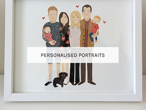 Illustrated--hand-painted-Family-Portrait-by-Greetings-From-Sarah-2016