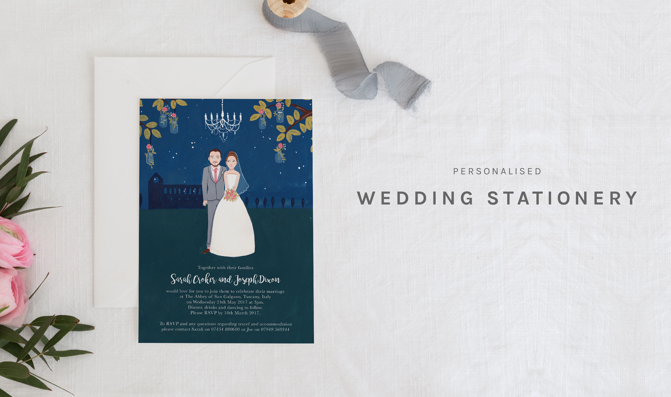 Wedding Stationery - NEW 17 - Greetings from Sarah