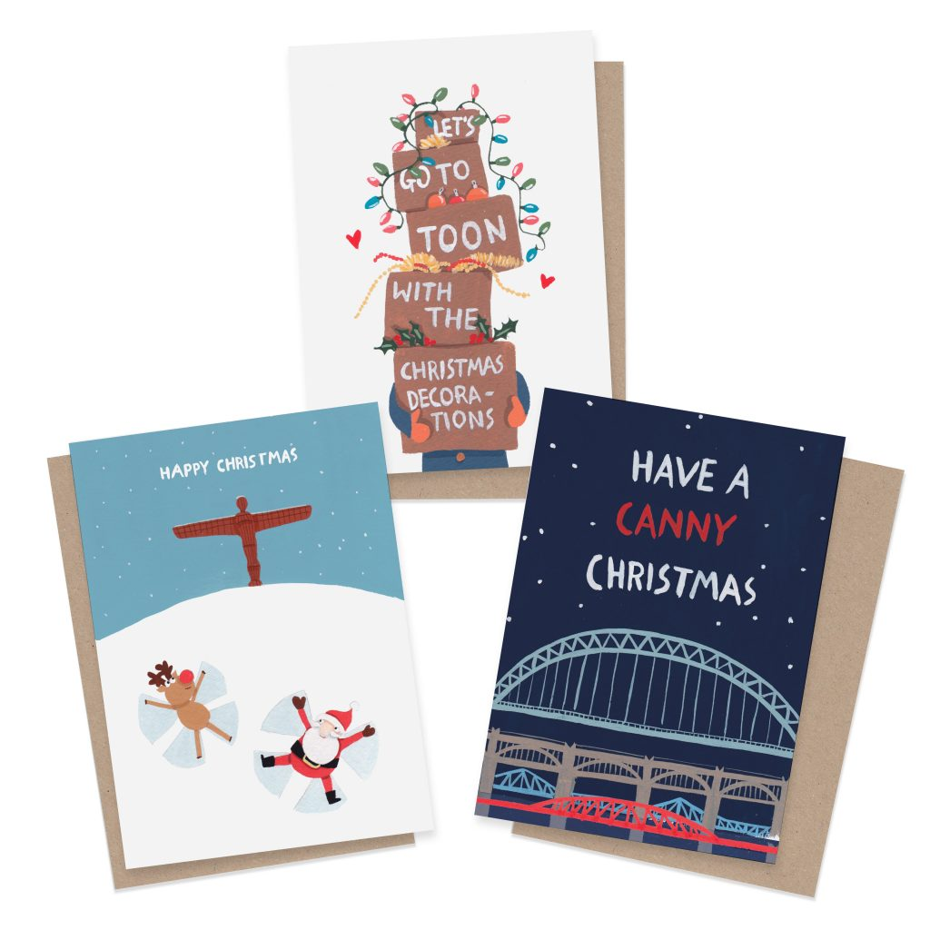 Newcastle Christmas Card Bundle (3 Or 6 Pack)