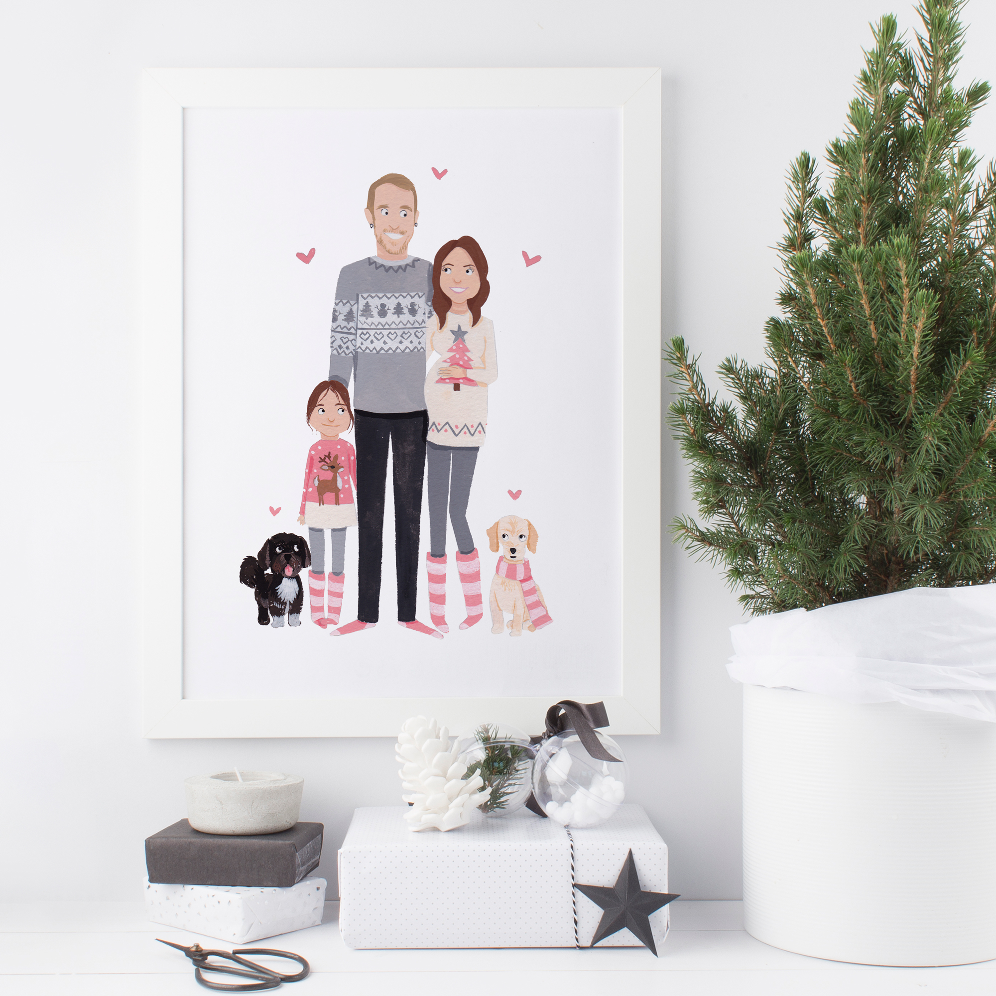 Custom Family Portrait by Greetings From Sarah